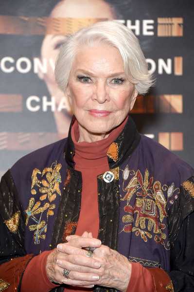 Ellen Burstyn looked elegant with her silver bob at the New York screening of 'Notes from the Field.'