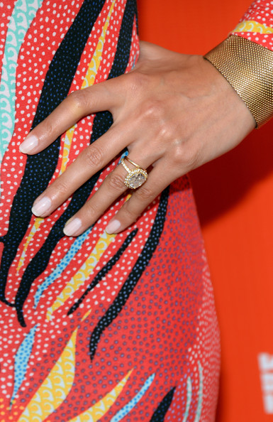Noureen DeWulf Diamond Ring [its always sunny in philadelphia,nail,orange,red,finger,hand,pattern,design,nail care,fashion accessory,jewellery,noureen dewulf,arrivals,premieres,fxx network,lure,fxx network launch party,the league,launch party,premiere]