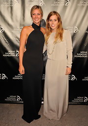 Holly Branson looked stunning in a long black gown at the Novak Djokovic Foundation Inaugural Dinner.