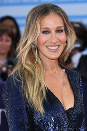 Sarah Jessica Parker sported a messy center-parted hairstyle at the Deauville American Film Festival premiere of 'Here and Now.'