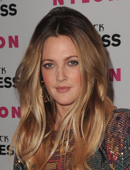 More Pics of Drew Barrymore Long Straight Cut (2 of 26) - Drew Barrymore Lookbook - StyleBistro