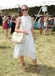 Christy Turlington headed to OCRFA's Super Saturday wearing the perfect summer dress!