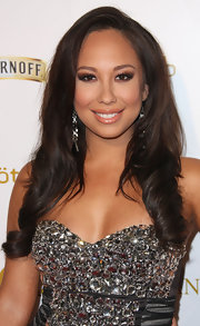 Cheryl Burke wore the ultra-long hair with a sexy side part and soft curls at 'OK!' magazine's pre-Grammy event.