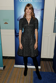 Laura Dern chose a gray tweed fit-and-flare dress for the Oceana Partners Awards Gala.