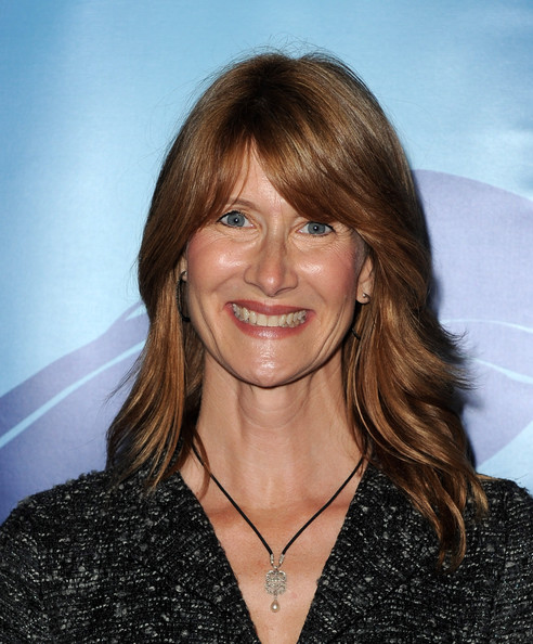 More Pics of Laura Dern Medium Wavy Cut with Bangs (3 of 3) - Laura Dern Lookbook - StyleBistro
