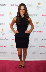 Jana Kramer looked stunning in a stylish black peplum dress at OK! Magazine's 5th Annual Fashion Week Celebration.