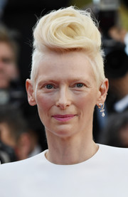 Tilda Swinton rocked a rosette-shaped fauxhawk at the Cannes Film Festival screening of 'Okja.'