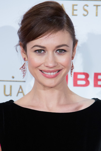 Olga Kurylenko Gemstone Chandelier Earrings [hair,face,hairstyle,eyebrow,skin,lip,chin,beauty,shoulder,smile,actress,march,olga kurylenko,el maestro del agua,madrid premiere,callao,madrid,spain]