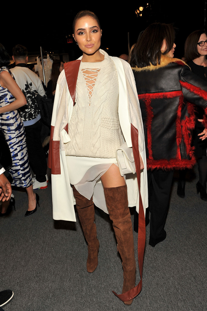 Olivia Culpo Over The Knee Boots Over The Knee Boots