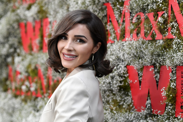 Olivia Culpo Curled Out Bob [elizabeth debicki,2019 women in film max mara face of the future,max mara celebrates,olivia culpo,red,beauty,lady,lip,botany,smile,photo shoot,spring,tree,photography,chateau marmont,california,los angeles]