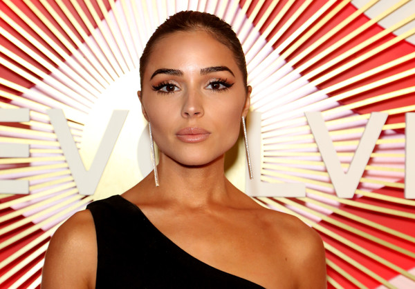 Olivia Culpo Classic Bun [second annual revolveawards,hair,face,lip,skin,beauty,eyebrow,hairstyle,chin,cheek,eyelash,olivia culpo,revolve,model,revolveawards,las vegas,nevada,palms casino resort]