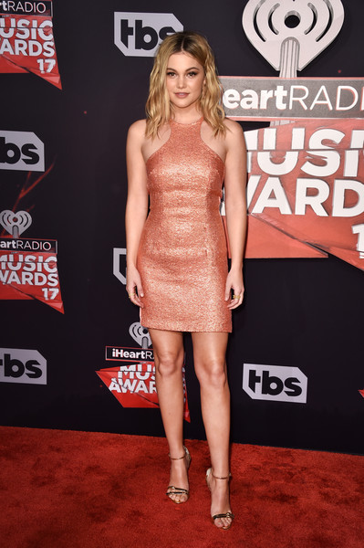 Olivia Holt Halter Dress