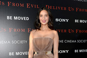 Olivia Munn Strapless Dress