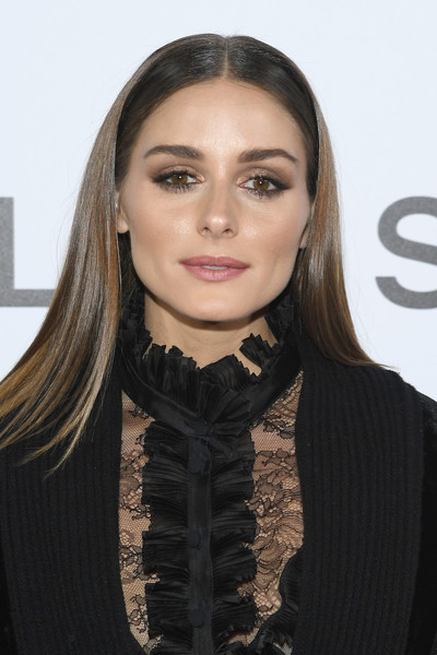 Olivia Palermo Neutral Eyeshadow [hair,face,lip,hairstyle,eyebrow,beauty,fashion,long hair,neck,necklace,olivia palermo,front row,part,paris,france,elie saab,paris fashion week womenswear spring]