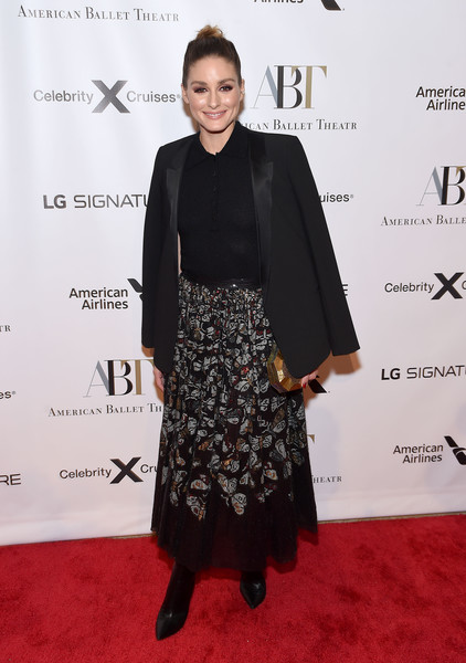 Olivia Palermo Blazer [clothing,red carpet,dress,carpet,fashion,premiere,flooring,formal wear,little black dress,footwear,american ballet theatre 2019 fall gala,david h. koch theater,new york city,lincoln center,olivia palermo]