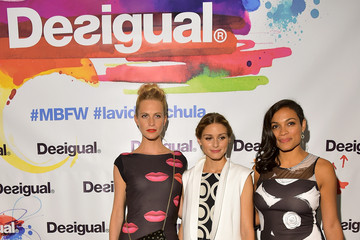 Olivia Palermo Poppy Delevingne Desigual - Backstage - Mercedes-Benz Fashion Week Spring 2015