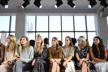 Olivia Palermo Poppy Delevingne Michael Kors  Spring 2015 Fashion Show - Front Row