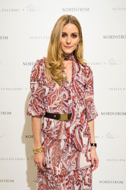 Olivia Palermo accessorized with a gorgeous gold bracelet while promoting her Chelsea28 collection.