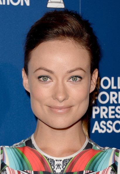 Olivia Wilde Bright Eyeshadow [hair,eyebrow,hairstyle,chin,beauty,forehead,cheek,eyelash,fashion model,smile,arrivals,olivia wilde,beverly hills,california,the beverly hilton hotel,hollywood foreign press association,installation luncheon,2013 installation luncheon]
