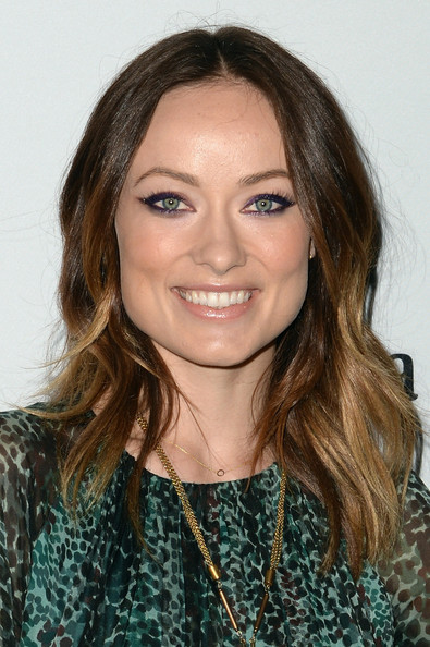 Olivia Wilde Nude Lipstick [hair,face,hairstyle,eyebrow,brown hair,chin,long hair,forehead,layered hair,beauty,arrivals,olivia wilde,new york city,whitney museum annual art party]