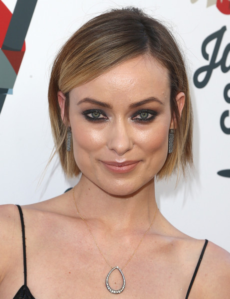 Olivia Wilde Smoky Eyes [eyebrow,chin,hairstyle,beauty,forehead,eyelash,cheek,lip,blond,neck,steven tyler,olivia wilde,california,los angeles,live nation,inaugural janies fundgala grammy viewing party,red studios,inaugural janies fund gala grammy viewing party]