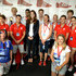 Prince Harry and Catherine, Duchess of Cambridge pose with athletes at Team GB House in the Westfield Centre on Day 13 of the London 2012 Olympic Games on August 9, 2012 in London, England.