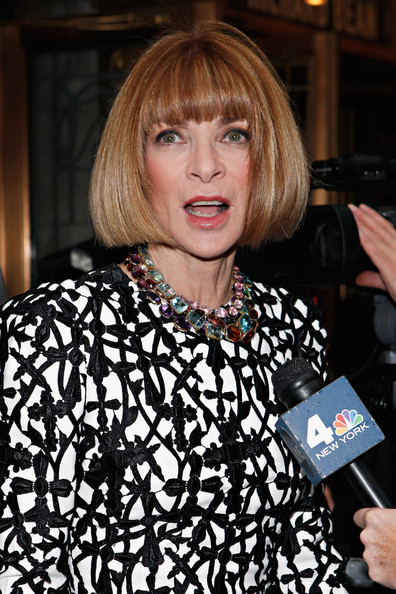 More Pics of Anna Wintour Bob (1 of 6) - Anna Wintour Lookbook - StyleBistro [one man two guvnors,hair,hairstyle,blond,bangs,bob cut,layered hair,brown hair,anna wintour,opening night - arrivals,editor-in-chief,curtain call,broadway,american,music box theatre,new york city]
