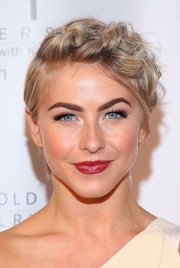 Julianne Hough chose a deep red lip color for a glamorous finish to her look.