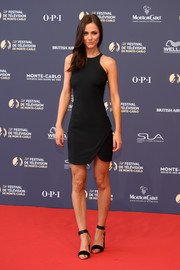 Alexandra Park complemented her dress with black ankle-strap sandals.
