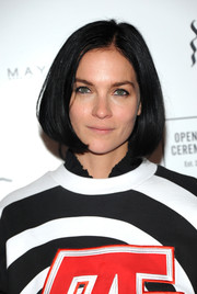 Leigh Lezark wore her hair in a classic bob at the Opening Ceremony Spring 2019 show.
