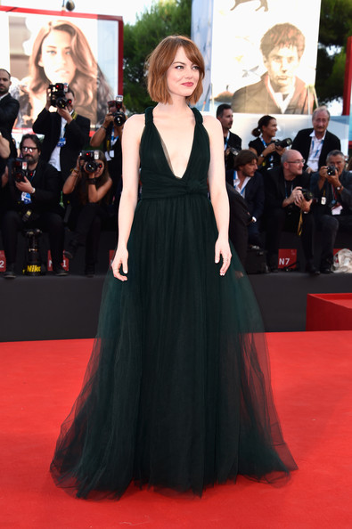 Emma Stone (in Valentino Couture) as Merida