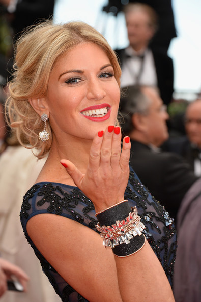 Hofit Golan pulled her hair up into a romantic curly 'do for the 'Grace of Monaco' premiere.