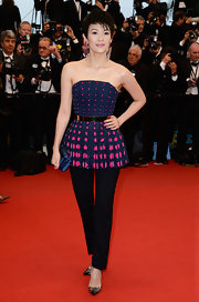 Zhang chose this pair of black pants to balance out her full top at the the Cannes Film Festival premiere of 'The Great Gatsby.'