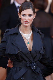 Bianca Balti stunned with this gemstone statement necklace by Chopard at the Venice Film Festival opening ceremony.