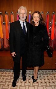 Talia Balsam chose to wear an all-black ensemble at the Hermes Men's Store opening including a pair of round-toe pumps.