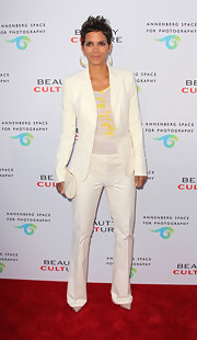 Halle Berry knows precisely how to rock a pantsuit.