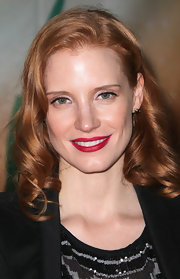 Corkscrew curls finished off Jessica Chastain's look.