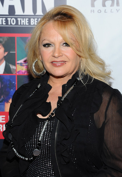 Charlene Tilton wore a pair of thick hoop earrings at the opening night of 'Rain - A Tribute to the Beatles.'