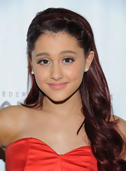 Ariana Grande wore her long locks with adorable braided bangs at the opening night of 'Wicked.'