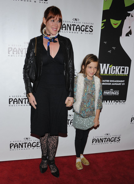 More Pics of Molly Ringwald Silk Scarf (1 of 4) - Scarves Lookbook - StyleBistro [wicked,carpet,red carpet,clothing,fashion,flooring,premiere,footwear,dress,event,outerwear,mathilda gianopoulos,molly ringwald,pantages theatre,california,hollywood,red carpet,l]