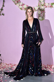 Melanie Laurent was eye candy in a multicolored striped gown by Blumarine at the Ballet National de Paris opening season gala.