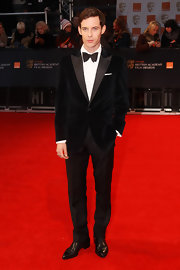 Luke Treadaway looked suave in a tailored tux and leather wingtips.