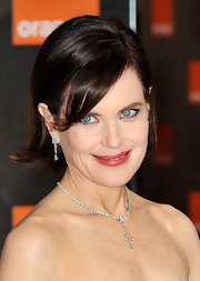 Elizabeth McGovern wore her hair in a stylish flip at the 2012 Orange British Academy Film Awards.