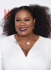 Adrienne C. Moore pinned her hair back into a voluminous curly 'do for the New York premiere of 'Orange is the New Black.'