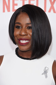 Uzo Aduba looked oh-so-hip with her asymmetrical bob at the New York premiere of 'Orange is the New Black.'