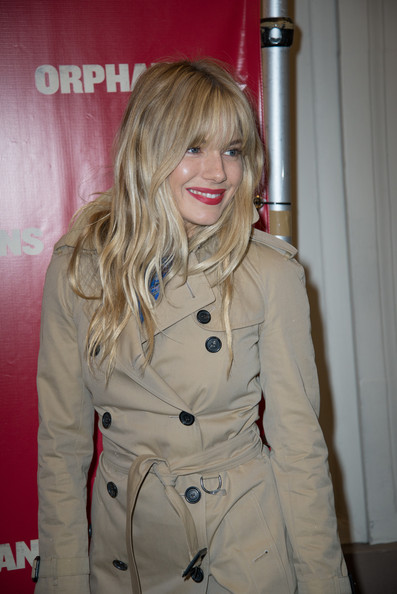 More Pics of Sienna Miller Long Wavy Cut with Bangs (3 of 3) - Sienna Miller Lookbook - StyleBistro