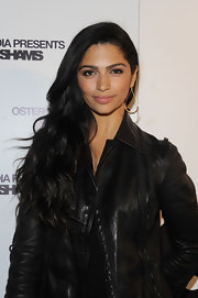 Camila Alves attended the Leila Shams after party wearing her glossy mane in long loose waves.