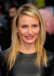 Cameron Diaz was edgy-chic with her tousled layers during the London premiere of 'The Other Woman.'
