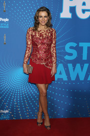 Elizabeth Hurley was all about classic glamour at the People Style Awards in a red mini dress with a beaded bodice.