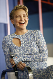 Kate Hudson wore a chunky gold ring to the POPSUGAR Play/Ground event.